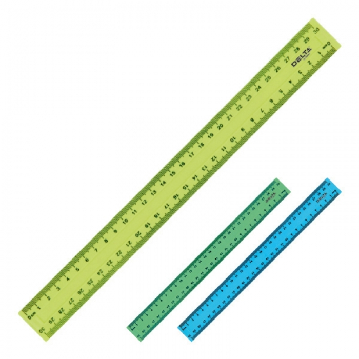 линейка пластиковая, 30 см 33472