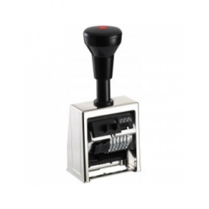 В6/6/4,5 antigueНумератор автомат. металлический корпус 6-ти разрядный, 4,5 мм шрифт-antigue