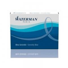 Капсулы, чернила WATERMAN Cartridge Size Standard 8 шт. в упаковке, синие.