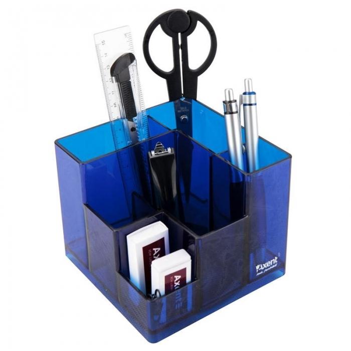 Набор настольный Axent Cube 2106-A, 9 предметов, ассортимент цветов