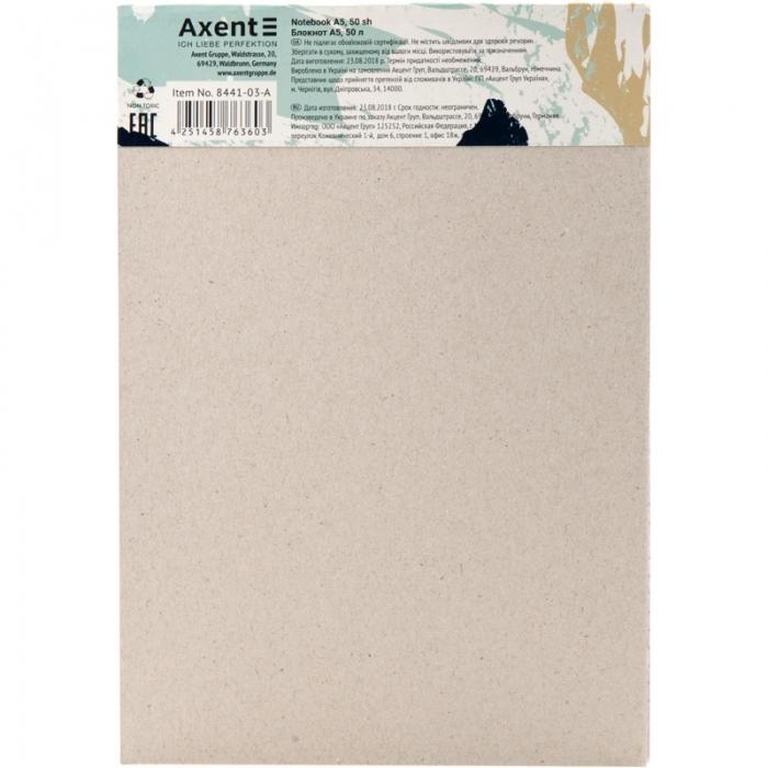 Блокнот-планшет Axent Touch 8441-03-A, A5, 145x210 мм, 50 листов, клетка, гибкая обложка