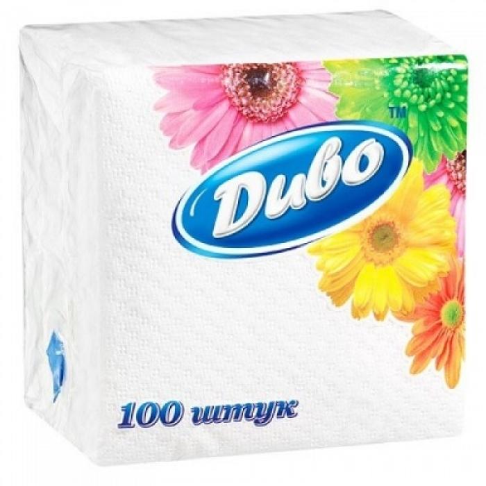 """Салфетки бумажные, барные """"Диво"""", 24Х25 см, 100шт., 1-слойные, белые"""