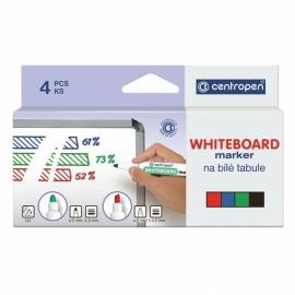 Маркер Centropen Board 8559/04, набор 4 шт. (картон. упак.)