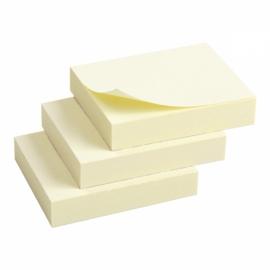 Блок бумаги с липким слоем Axent 2311-01-A, 50x40 мм, 3 блока по 100 листов, жёлтый