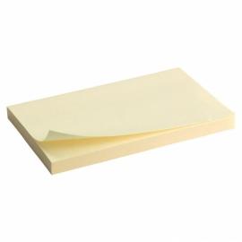 Блок бумаги с липким слоем Axent 2316-01-A, 75x125 мм, 100 листов, жёлтый