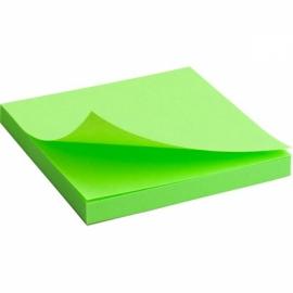 Блок бумаги с липким слоем Axent 2414-A, 75x75 мм, 80 листов, неоновый ассорти