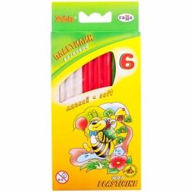 """Пластилин восковой ГАММА """"Пчелка"""", стек, 73 гр., 6 цветов"""