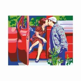 "Картина по номерам ""Ретро"" 35х45 см, акрил, N0001328"