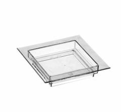 Тарелка квадратная прозрачная 7см*7см. 50шт/уп. PapStar 11208