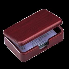 Контейнер для визиток Bestar деревянный, орехи, красное дерево