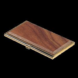 Футляр для визиток Bestar металлический, красное дерево, орех