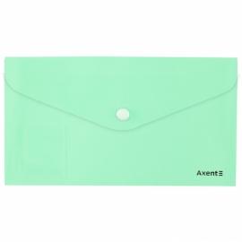 Папка-конверт на кнопке Axent Pastelini 1414-A, DL, ассортимент цветов