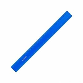 Линейка пластиковая Axent 7530-A, 30 см, ассортимент цветов