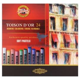 Сухие твердые пастельные мелки 24 цвета 8514
