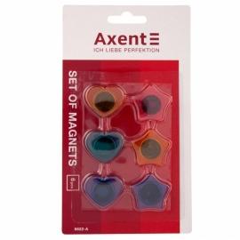 Набор магнитов Axent 9822-A фигурных, 30 мм, 6 штук
