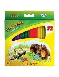 """Пластилин восковой """"Пчелка"""", стек, 147г.,12цветов.ГАММА"""