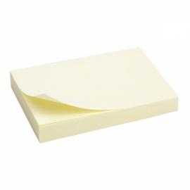 Блок бумаги с липким слоем Axent 2312-01-A, 50x75 мм, 100 листов, жёлтый