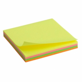 Блок бумаги с липким слоем Axent 2325-02-A, 75x75 мм, 100 листов, неоновые цвета
