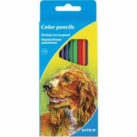 """Карандаши цветные KITE """"Животные"""", 12 цв., шестигранная форма корпуса, толщина грифеля 3 мм."""