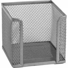 Куб для бумаги Axent 2112-03-A, металлическая сетка, 100х100х100 мм, серебристый