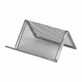Подставка для визиток Axent 2114-03-A, металлическая сетка, 95x80x60 мм, серебристая