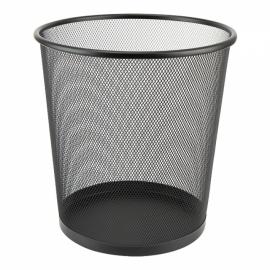 Корзина для бумаги Axent 2119-01-A, металлическая сетка, 12 л, черная
