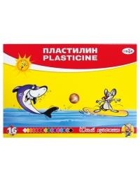 """Пластилин """"Юный художник"""", стек, 224г., 16 цв. 280046"""