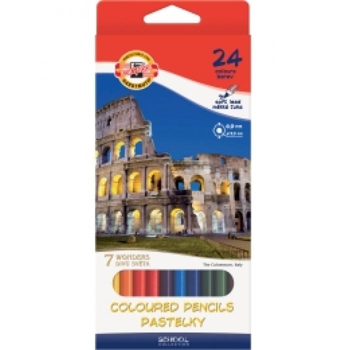 """3651_7 карандаши цветные """"7 чудес"""",ассорти 20650"""