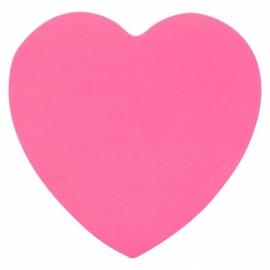 Блок бумаги с липким слоем Axent 2443-01-A, 70x70 мм, 50 листов, сердце