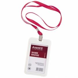 Шнурок для бейджа с металлическим клипом Axent 4532-A, ассортимент цветов