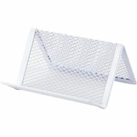 Подставка для визиток Axent 2114-21-A, металлическая сетка, 95x80x60 мм, белая