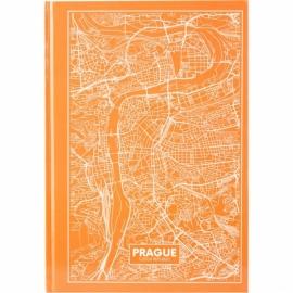 Книга записная Axent Maps Prague 8422-542-A, A4, 210x295 мм, 96 листов, клетка, твердая обложка, персиковая