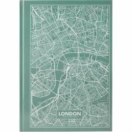 Книга записная Axent Maps London 8422-516-A, A4, 210x295 мм, 96 листов, клетка, твердая обложка, бирюзовая