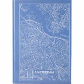 Книга записная Axent Maps Amsterdam 8422-507-A, A4, 210x295 мм, 96 листов, клетка, твердая обложка, голубая