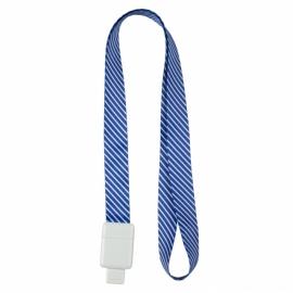 Шнурок для бейджа Axent Office 4560-22-А, с ретрактором, синяя полоса