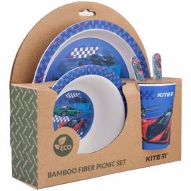 Набор посуды из бамбука Kite Racing K20-313-2 (5 предметов)