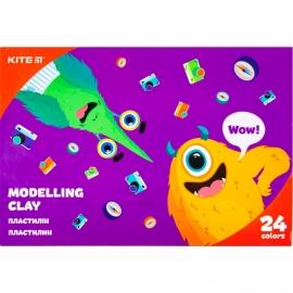 "Пластилин восковой Kite ""Jolliers"", 480 гр., 24 цв., картонная упаковка - слайдер"