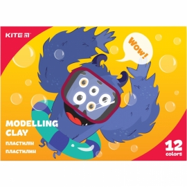 "Пластилин восковой Kite ""Jolliers"", 240 гр., 12 цв., картонная упаковка - слайдер"
