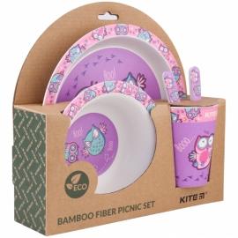 Набор посуды из бамбука Kite Owls K20-313-3 (5 предметов)