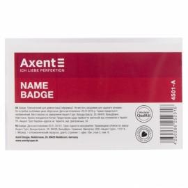 Бейдж Axent 4501-A горизонтальный, на заколке, из прозрачного пластика, размер бейджа: 90х57 мм.