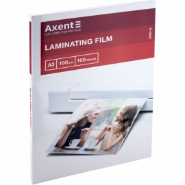 Плёнка для ламинирования Axent 2090-A, 100 мкм, A3, 303x426 мм, 100 штук