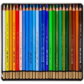 Карандаши цветные акварельные MONDELUZ LANDSCAPE, металлическая коробка 24 шт