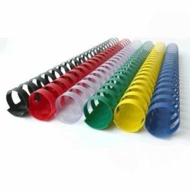Пружины пластиковые 19мм, 100 шт., ассортимент цветов