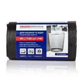 Пакеты для мусора HD 35л/100шт., черные 50*55 см Standart PRO Service