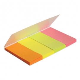 Закладки бумажные 4х20х50, неон, Е20935