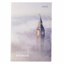 Книга записная Axent London 8423-21-A в твердой обложке, А4, 192 листа, клетка