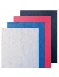 Обложки А4 под кожу 250г бордовый/серый