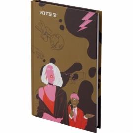 Книга записная Kite Время и СтеклоVIS19-199-2 твердая обложка А6, 80 листов, клетка