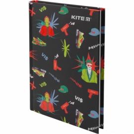 Книга записная Kite Время и СтеклоVIS19-199-3твердая обложка А6, 80 листов, клетка