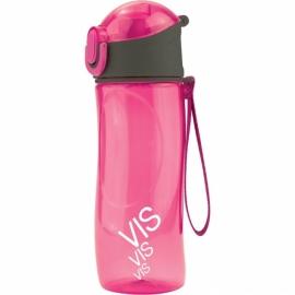 Бутылочка для воды Kite Время и Стекло VIS19-400-02, 530 мл, розовая